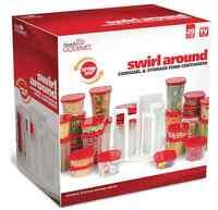 Food Storage Container Carousel Spin Store Swirl Around Organizer 49 Piece Set