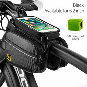 Cycling-Bag-Bicycle-Top-Front-Frame-Pannier-Tube-Bag-Double-Pouch-Bike-Bag