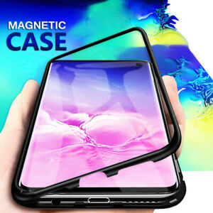 For-Oppo-AX7-AX5-AX5S-A3S-Magnet-Aluminum-Metal-Bumper-Tempered-Glass-Cover-Case