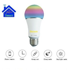 Colore-RGB-LED-ampoule-intelligente-leds-600lm-wifi-telecommand-pour-Alexa-F