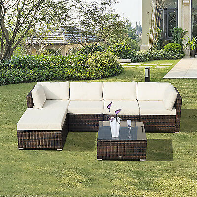 Rattan Furniture Set Outdoor Garden Chairs Table Wicker Patio Sofa Conservatory