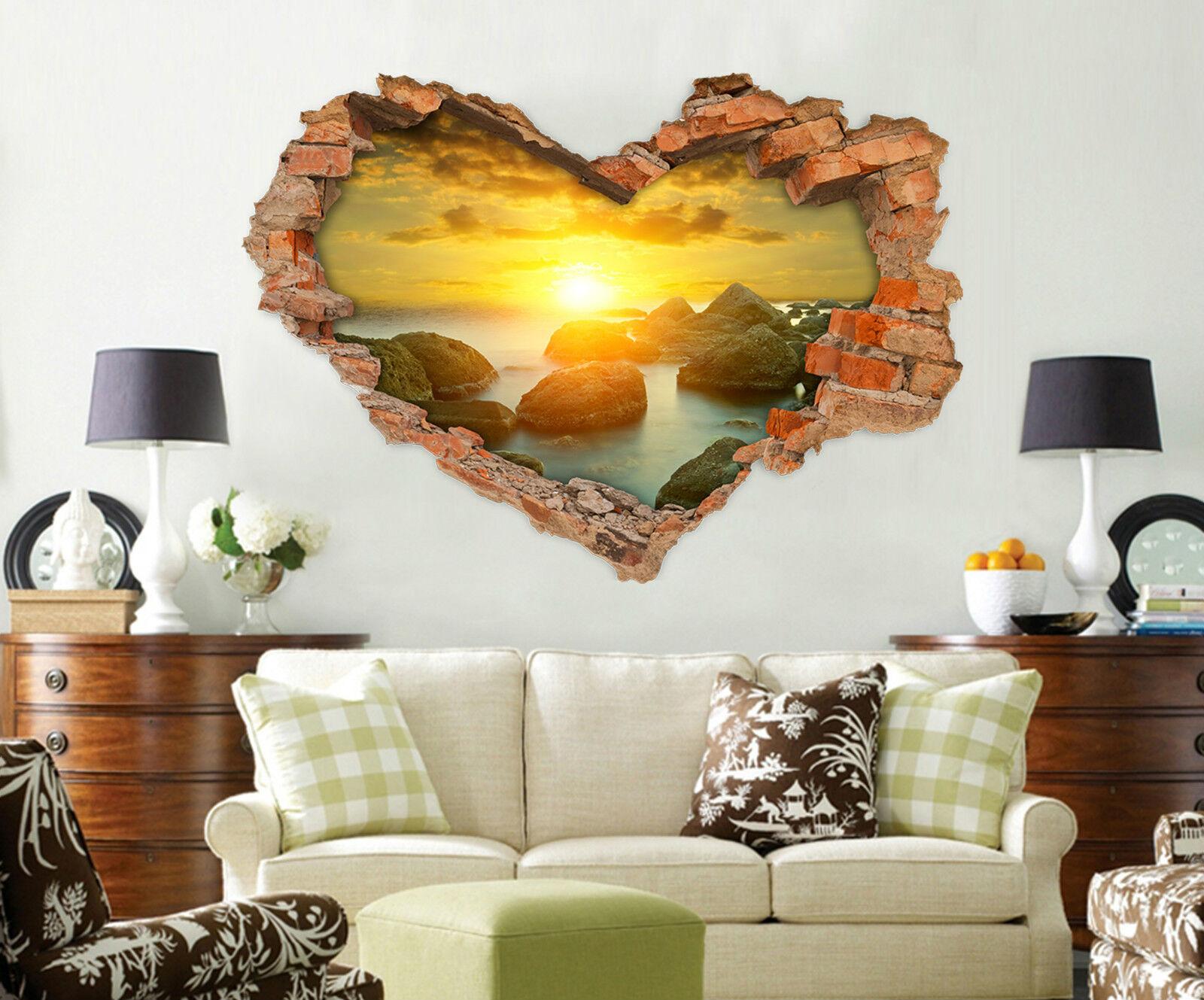 3D Sonnenschein 623 Mauer Murals Aufklebe Decal Durchbruch AJ WALLPAPER DE Lemon
