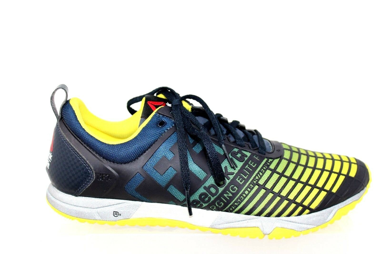 Reebok Cross Fit Sprint TR Training shoes Reebok Navy Stinger Yellow Mens Size 9