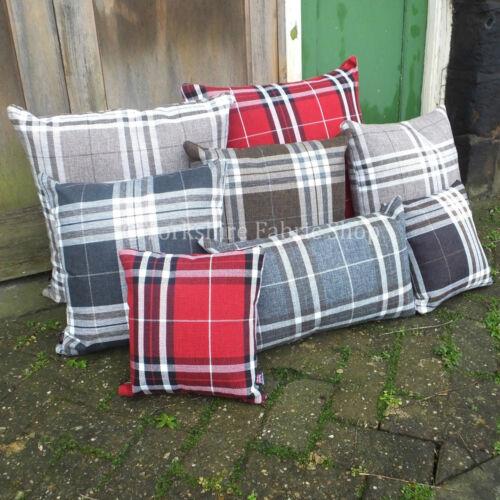 Tartan écossais coussins design pattern tissu avec pad qualité britannique fait main