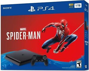 NEW-Sony-PlayStation-4-Slim-Marvel-Spiderman-Bundle-PS4-Console-1TB-or-2TB