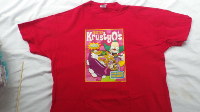 Rare Vintage The  Simpsons Krusty the Clown T-Shirt XL Excellent Condition!