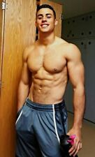 Shirtless Male Beefcake Muscular Frat Boy Cowboy Jock B/&W Dude PHOTO 4X6 C357