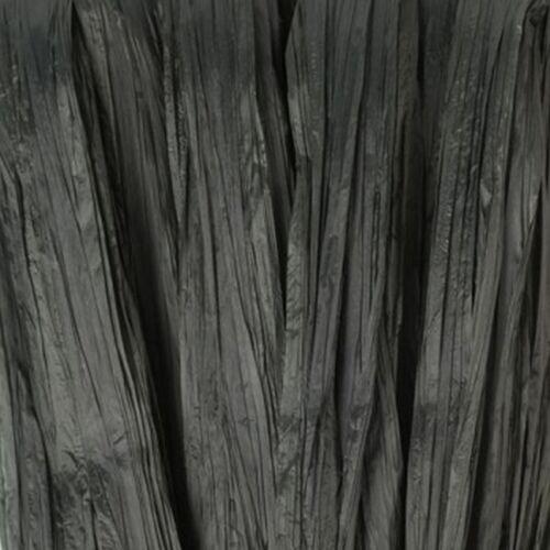 7 Mm x 20 M Efco Negro Sintético Rafia Papel Flores de la cinta Artesanía Scrapbook