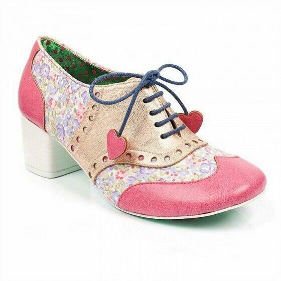 BNIB - Irregular Choice - Clara Bow Bow Bow Rosa Poetic Licence Heels - UK 6 EU 39 d0618f