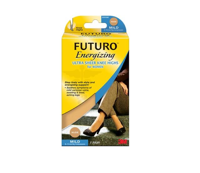 Futuro Energizing Ultra Sheer Knee Highs for Women, Large