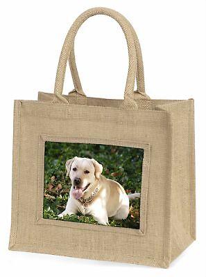 gelb Labrador Hund große natürliche jute-einkaufstasche Weihnachtsgeschenk