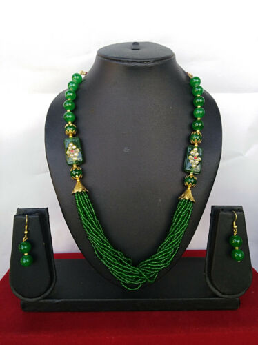 Indian Bead Jewelry Party Wear Fashion Ethnic Bollywood Faux Perle Collier Set