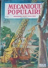 REVUE MECANIQUE POPULAIRE N° 030 PETROLE BUCHERON PECHE REQUINS PILOTAGE 1948