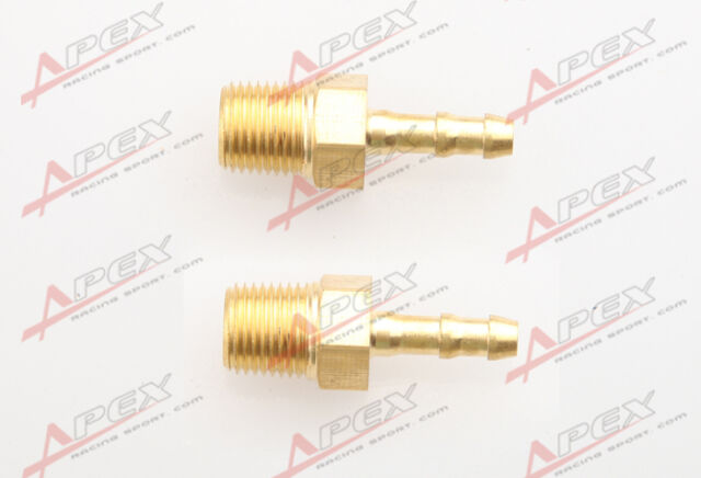 "2 pcs 4mm Male Brass Hose Barbs Barb to 1/8"" NPT Pipe Male Thread"