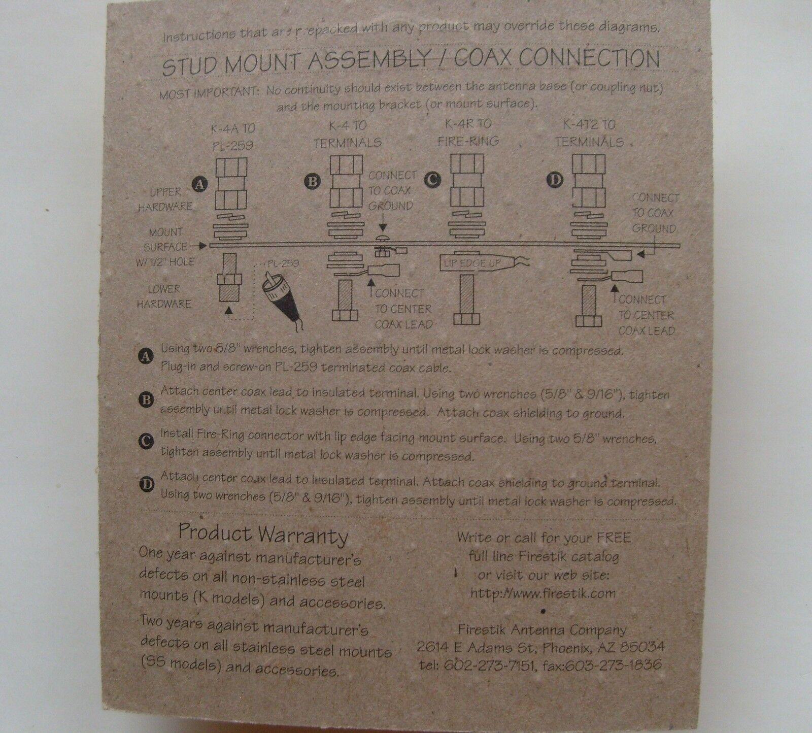 Firestik Wiring Diagram