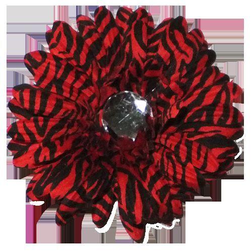"Lot of 12 4/"" flower head on alligator clip Zebra Gerbera Daisy Clips"