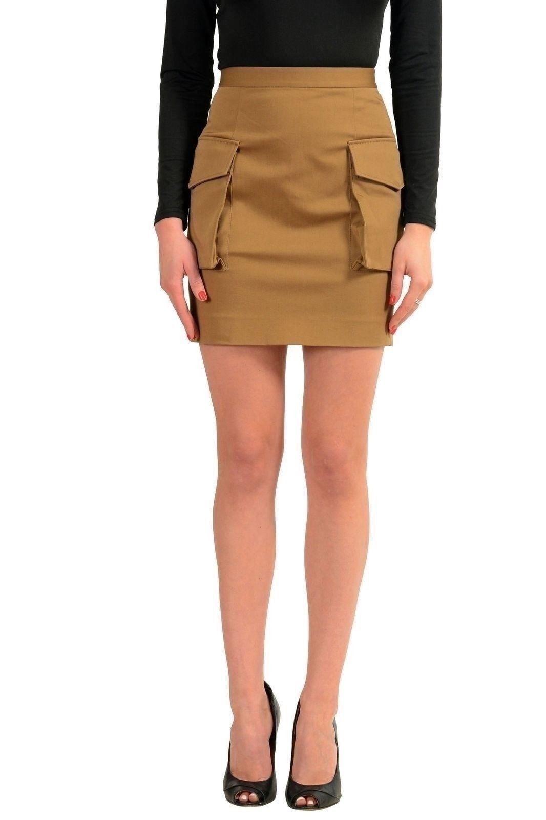Dsquared2 Brown Women's Mini Skirt US XS IT 38