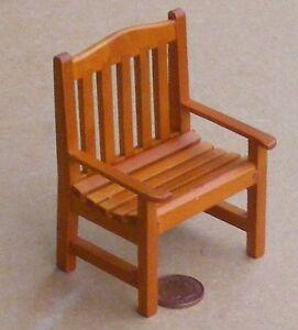 1//12 scala casa delle bambole in legno sedia da giardino