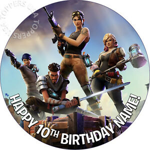 Fortnite Edible Wafer Circle 7 5 Cake Topper Image Decoration
