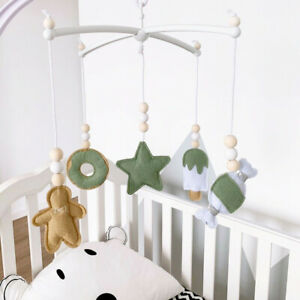 Cute Bed Bell Kids Mobile Cot Gift Baby Rattles Toy Wool Felt Crib Hanging Decor