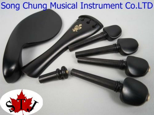 5 sets of 4 4 violin ebony fittings,very beautiful carved,Music Instrument parts