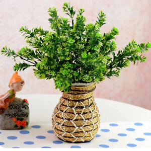 Am-ALS-1-Bouquet-Artificial-Fake-Flower-Green-Grass-Plant-Home-Office-Wedding