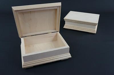 1 X Plain In Legno Naturale Gioielli Petto Ricordo Scatola Portagioie Storage Kfr Large-mostra Il Titolo Originale Essere Accorti In Materia Di Denaro