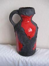 Roth Vase Fat Lava Lavaglasur Keramik Panton Ära 70er-Henkelvase 31cm