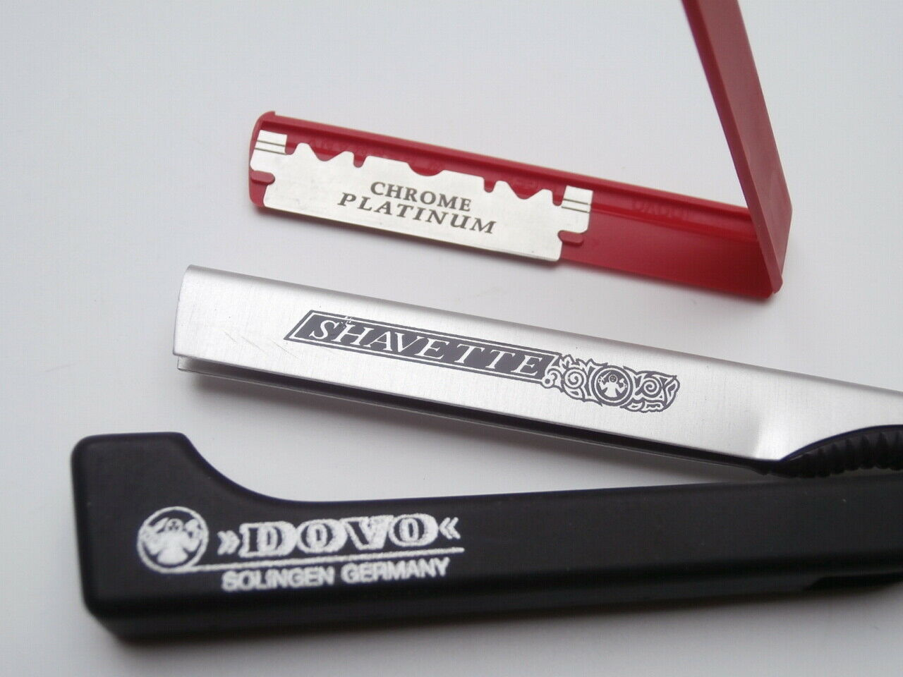 Rasiermesser DOVO SHAVETTE Aluminum Original Solingen Razor mit Wechselklinge