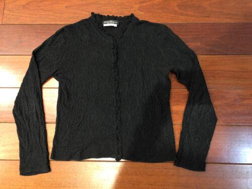 Salvatore Ferragamo Black Cotton Cardigan Medium