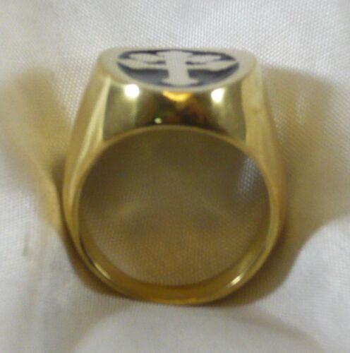 Anneau Croix Lorena Argent 925 Lorraine Cross Anneau Argent Gold Plated Curved
