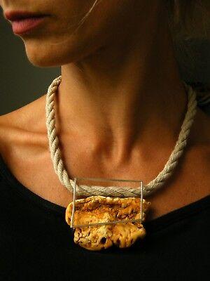 Anhänger Bernsteinanhänger Klumpen Pendant Amber Orange Silber 925 757