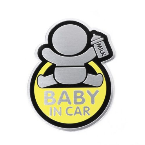 Car 3D Window Aluminum Sticker Baby IN CAR Warning Decal Safety Waterproof