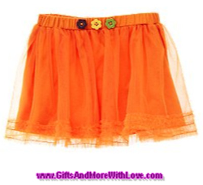 Gymboree NWT Orange HALLOWEEN SHOP TUTU TULLE DRESS SKIRT BOTTOMS 12 18 24 2T 3T