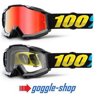 100/% STRATA MX Occhiali a specchio MX Enduro Motocross Crossbrille MIRROR