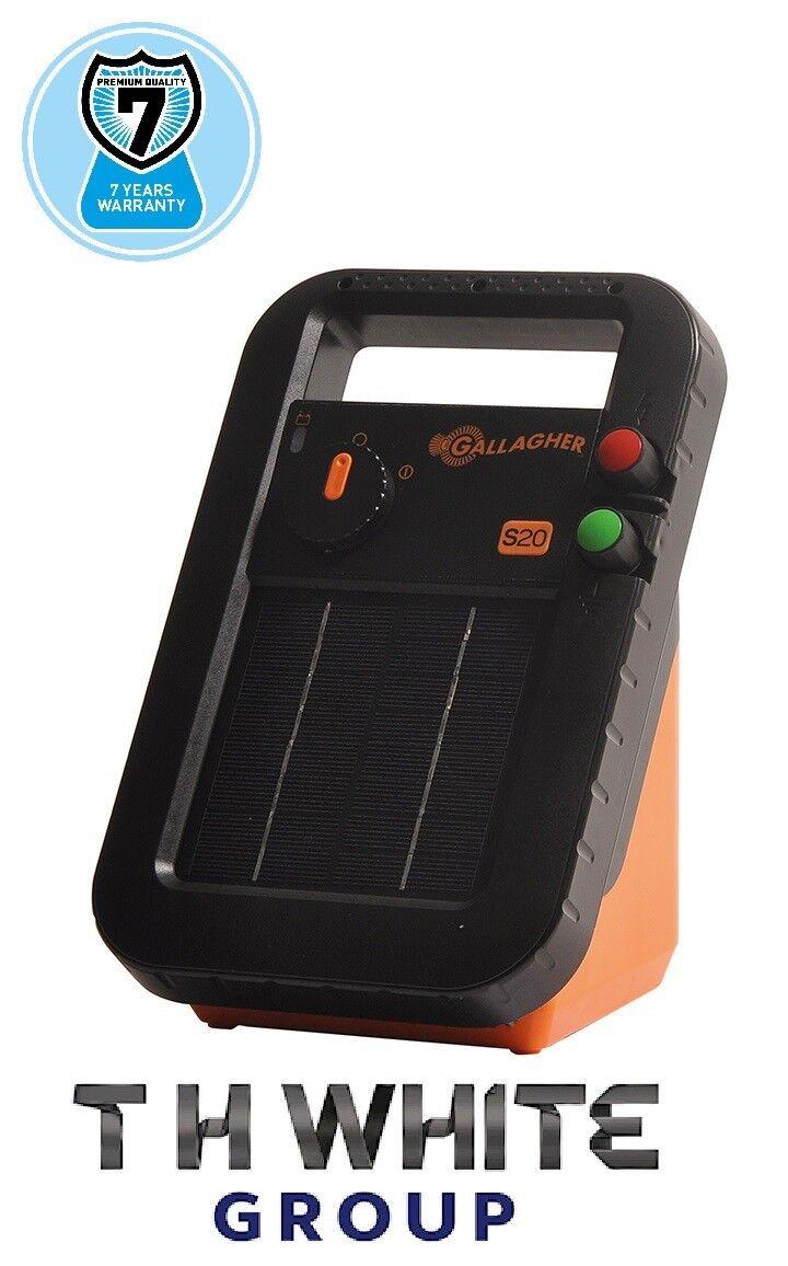 Gallagher S20 Solar Energizer 7 año de garantía Caballo valla 341323 (mm)