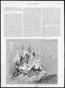 1895-Antique-Print-AUSTRIA-Mountain-Artillery-Corps-Signalling-Apparatus-136