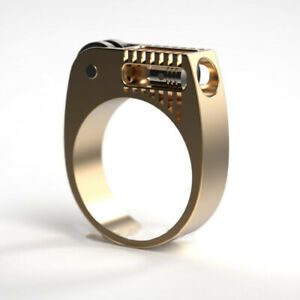 Gold-Fashion-Punk-Gothic-Lighter-Ring-Wedding-Party-Jewelry-Women-Rings-Sz-6-12