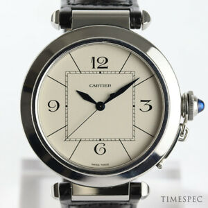 Pasha Box Cartier 42mm Steel Automatic Details About Stainless With Men's QdohCxBrts
