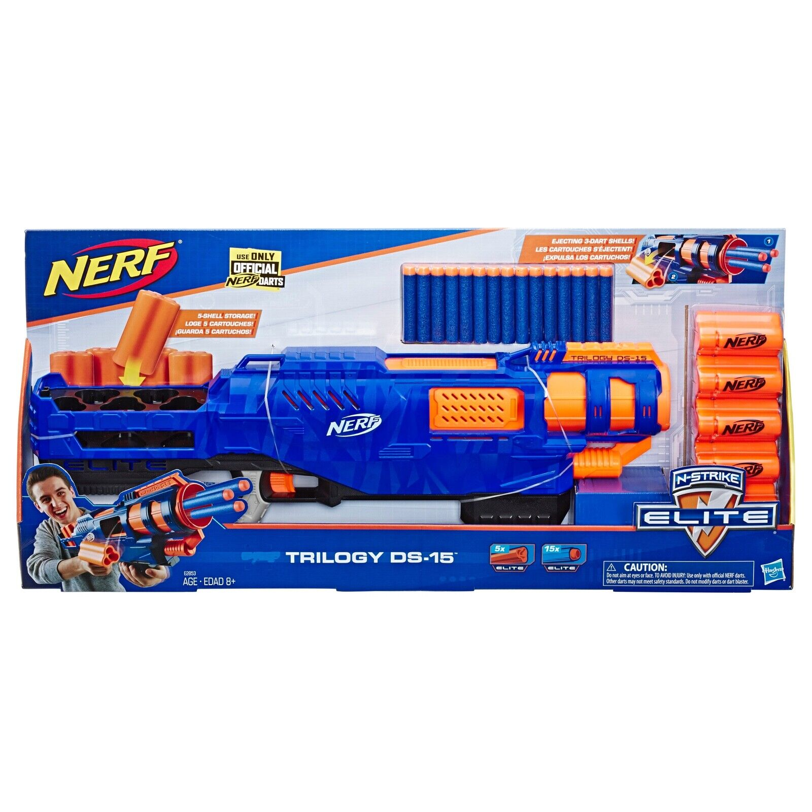 Nerf N Strike Elite Trilogy DS-15 3-Dart expulsar Shell Blaster De Juguete