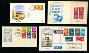 Israel-Covers-20x-Early-FDC-w-stamps-unaddressed-Scarce-Lot