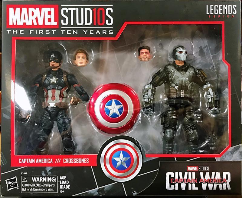 [giocattoli Hero] In He Marvel Legends 10th  Anniversary Captain America & Crossbones  i nuovi stili più caldi