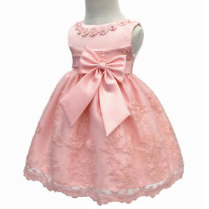 Baby-Girls-Christening-Baptism-Dress-Princess-Wedding-Party-Flower-Dresses