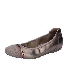 Women's shoes HOGAN 5 (EU 35) ballet flats beige leather suede ...