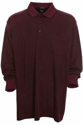 KITARO Polo Polo Shirt Homme Manches Longues Camouflage Coton Piqué plusgröße