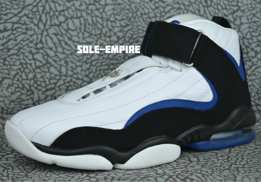 Nike Air Penny IV Retro 864018-100 White Black Atlantic bluee Magic Hardaway 4 DS