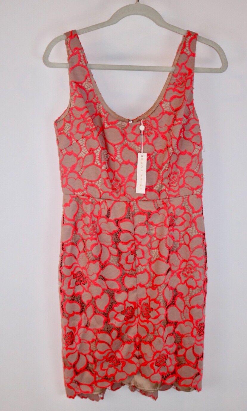 Trina Turk Kruze Lace Sheath Dress  Size 6 New