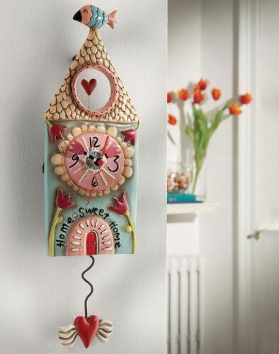 Allen Designs Home Sweet Clock New Original Packaging Heart Pendulum Wall P9086