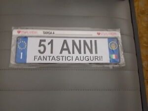 Targa Latta 51 Anni Fantastici Auguri Festivanya Ebay