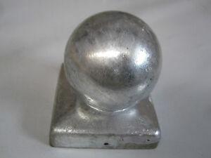 Pfostenkappen mit 100 mm Kugel für 100 x 100 mm 10 cm Pfosten in Silber Neu